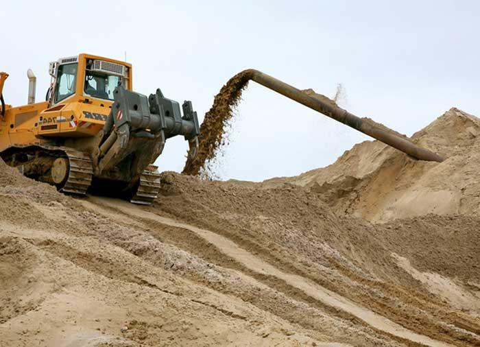 Добыча строительного песка
